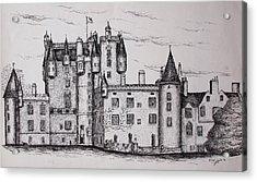 Glamis Castle Acrylic Print by Sheep McTavish