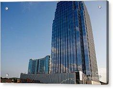 Glass Buildings Nashville Acrylic Print by Susanne Van Hulst