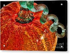 Glass Pumpkin   Acrylic Print by Alexandra Jordankova