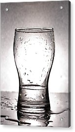 Glass With Water  Acrylic Print by Chatchawin Jampapha