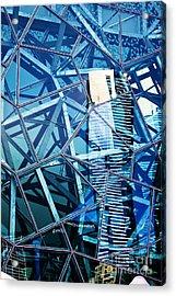 Glasshouse City Acrylic Print by Andrew Paranavitana