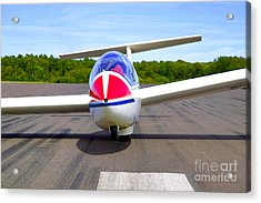 Glider On A Runway Acrylic Print by Richard Thomas