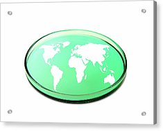 Global Research, Conceptual Image Acrylic Print by Victor De Schwanberg