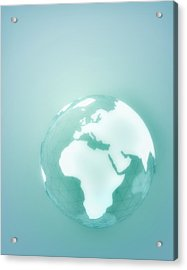 Globe Of Africa Europe And The Middle East Acrylic Print by Jason Reed