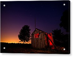 Glowing Shed Acrylic Print by Cale Best