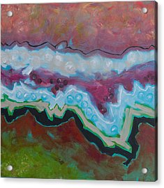 Go With The Flow 2 Acrylic Print by Linda Krukar
