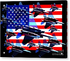 God Bless America Land Of The Free 2 Acrylic Print by Wingsdomain Art and Photography