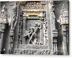 God Carved At Elora Caves Acrylic Print by Sumit Mehndiratta