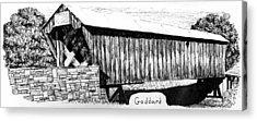 Goddard Covered Bridge Acrylic Print by Kyle Gray