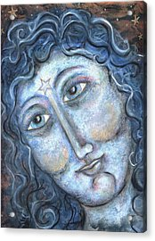 Goddess Of The Northern Star Acrylic Print by Suzan  Sommers