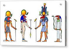 Gods And Goddess Of Ancient Egypt Acrylic Print by Michal Boubin