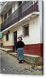 Going Home From The Market Acrylic Print by Douglas Barnett