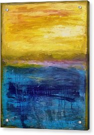 Gold And Pink Sunset Ll Acrylic Print by Michelle Calkins