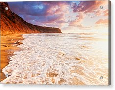 Golden Bay Acrylic Print by Evgeni Dinev