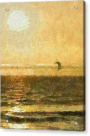 Golden Day Painterly Acrylic Print by Ernie Echols
