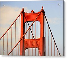 Golden Gate Bridge - Nothing Equals Its Majesty Acrylic Print by Christine Till