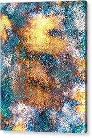 Golden Globe Acrylic Print by Carly Ralph