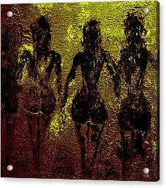 Golden Harmony Acrylic Print by Piety Dsilva
