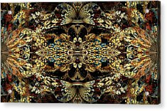 Golden Split Crop Acrylic Print by Peggi Wolfe