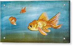 Goldfish Acrylic Print by Anthony Cavins