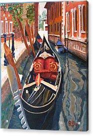 Gondola Veneziana Acrylic Print by Robie Benve