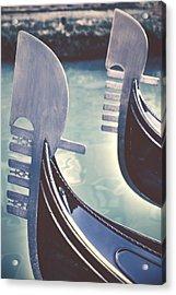 gondolas - Venice Acrylic Print by Joana Kruse
