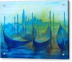 Gondolas Acrylic Print by Khromykh Natalia