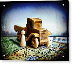 Gone Truckin Acrylic Print by Adam Vance