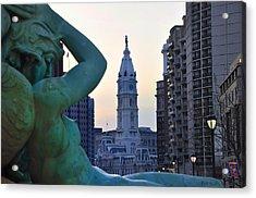 Good Morning Philadelphia Acrylic Print by Simon Wolter