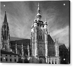 Gothic Saint Vitus Cathedral In Prague Acrylic Print by Christine Till