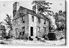 Governor Caleb Carr House. A House Acrylic Print by Everett