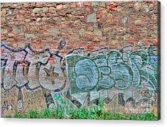 Graffiti Acrylic Print by Kathleen Struckle