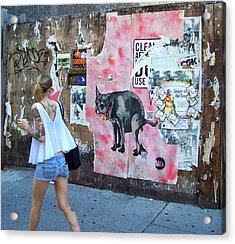 Graffiti Acrylic Print by Steven Huszar