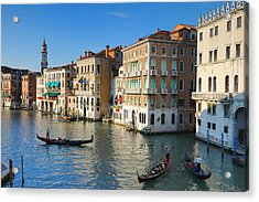 Grand Canal From Rialto Bridge, Venice Acrylic Print by Chris Hepburn