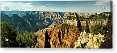 Grand Canyon Angel Panorama Acrylic Print by Bob and Nadine Johnston