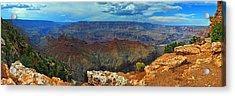 Grand Canyon Panoramic View Acrylic Print by Gene Sherrill