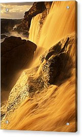 Grand Falls Of The Little Colorado Acrylic Print by Ralph Lee Hopkins