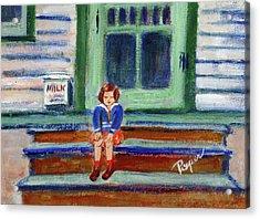 Grandma's Door Steps Acrylic Print by Elzbieta Zemaitis