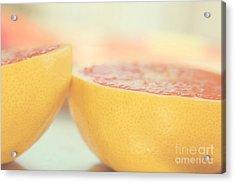 Grapefruit Acrylic Print by Kim Fearheiley