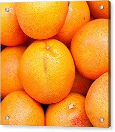 Grapefruit Acrylic Print by Tom Gowanlock