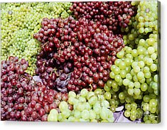 Grapes At A Market Stall Acrylic Print by Jeremy Woodhouse