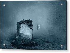 Grave In A Forest Acrylic Print by Jaroslaw Grudzinski