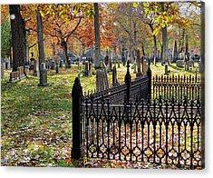Gravestones Acrylic Print by Janice Drew