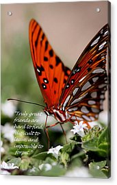 Great Friends Card Acrylic Print by Travis Truelove