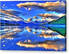Great Glacier Lake Acrylic Print by Scott Mahon