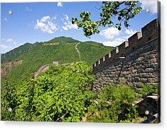 Great Wall At Mutianyu Acrylic Print by Bridget Coila