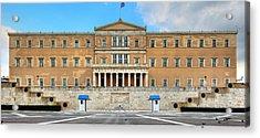 Greek Parliament Acrylic Print by Constantinos Iliopoulos