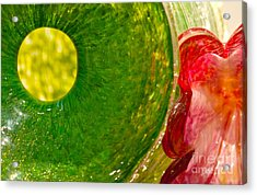 Green And Red Acrylic Print by Artist and Photographer Laura Wrede