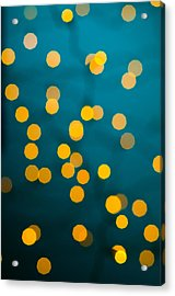 Green Background With Gold Dots  Acrylic Print by Ulrich Schade