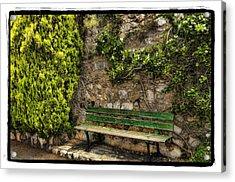 Green Bench Acrylic Print by Mauro Celotti